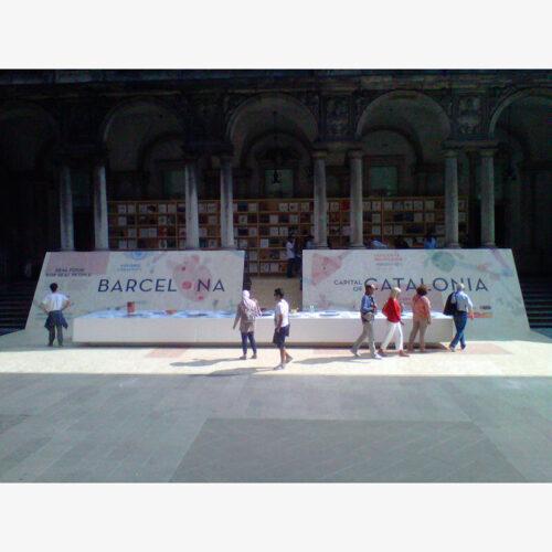 ESTAND GENERALITAT DE CATALUNYA Y AJUNTAMIENTO DE BARCELONA. EXPO INTERNACIONAL DE MILÁN 2015